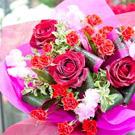 赤のお任せ花束
