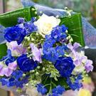 青のお任せ花束